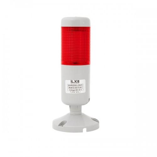 1 Katlı Işıklı Kolon - Ø50 T5 İkaz Lambası | İLX