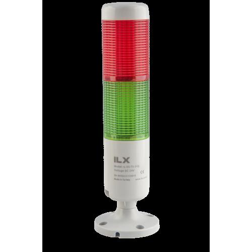 2 Katlı Işıklı Kolon - Ø50 T5 İkaz Lambası | İLX